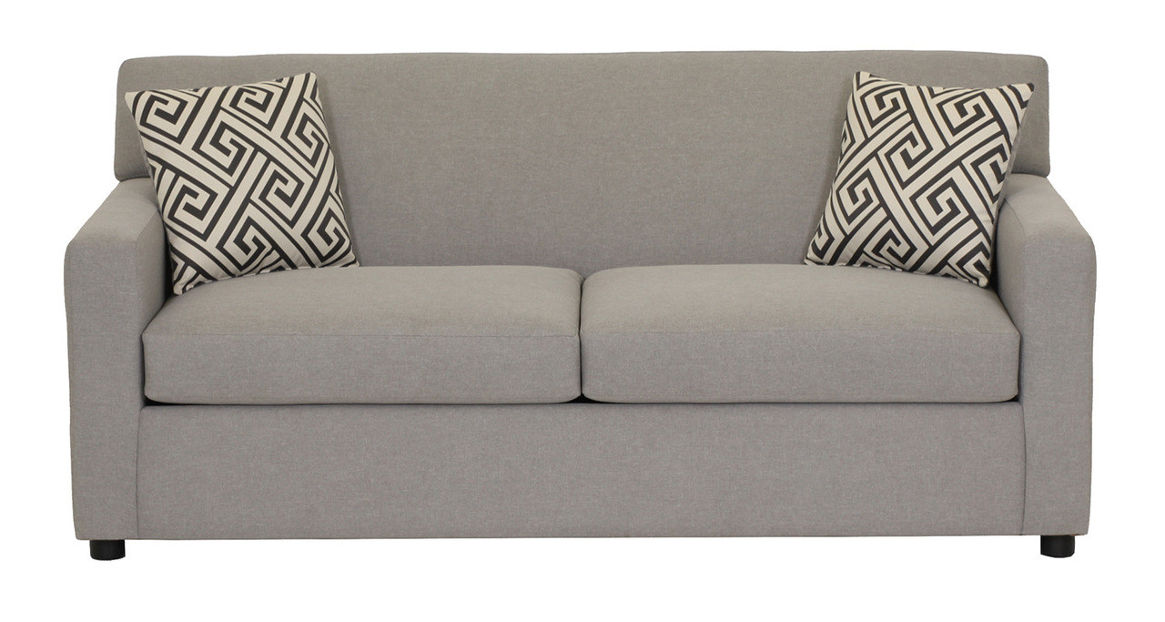Pleasant Dyna Fabric Double Sofa Bed Grey Home Remodeling Inspirations Gresiscottssportslandcom