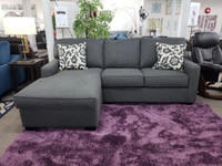 Rex Left Hand Facing Sectional Jitterbug Grey