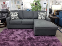 Rex Right Hand Facing Sectional Jitterbug Grey