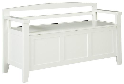 Charvanna Storage Bench White