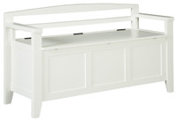 Charvanna Storage Bench White