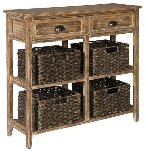 Oslember Console Table Brown