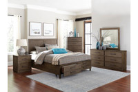 Albury Queen Storage Bed Frame w/Slats Brown