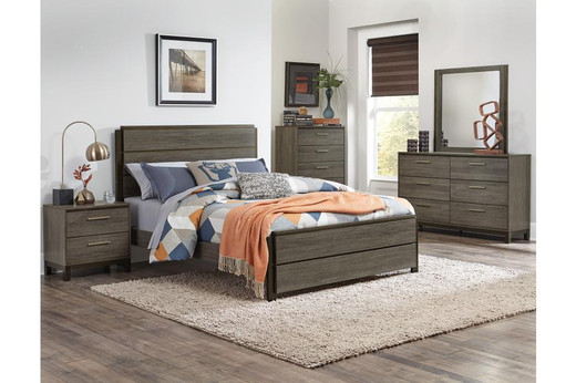 Kaden King Bed Frame Grey