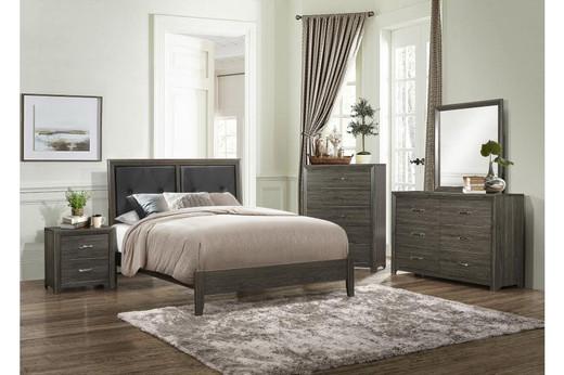 Morgan King Bed Frame Brown
