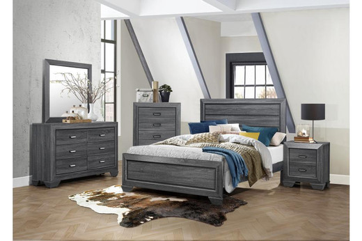 Kai Queen Bed Frame Grey