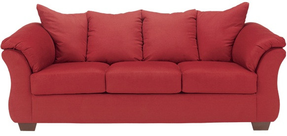 Madison Fabric Sofa Red