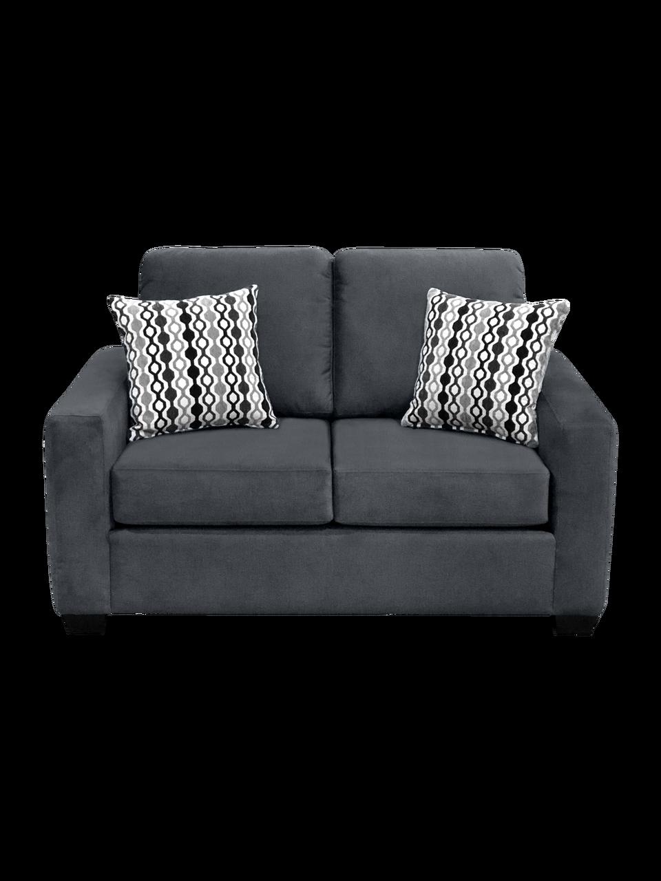 Nordel Fabric Loveseat Sofa Bed Pebble