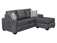 Nordel Fabric Reversible Sectional Pebble