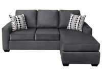 Ledron Fabric Reversible Queen Sectional Sofa Bed Pebble