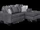 Nordel Fabric Reversible Queen Sectional Sofa Bed Pebble