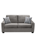 Nordel Fabric Loveseat Sofa Bed Silver