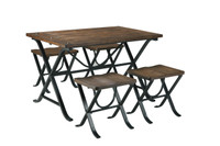 Freimore 5pc Dining Set Brown