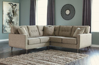 Edgar Fabric Corner Sectional Beige