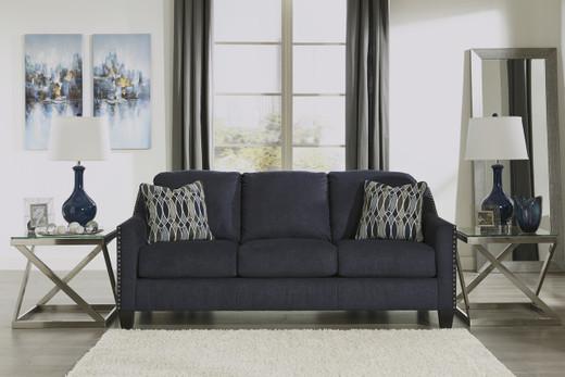 Zelda Fabric Sofa Blue