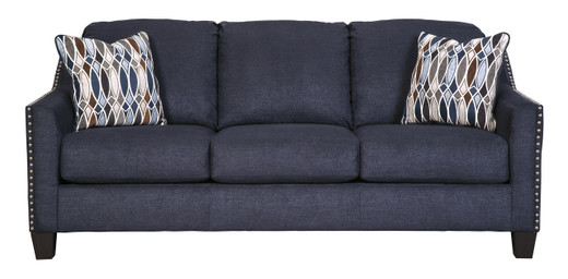 Zelda Fabric Sofa Blue