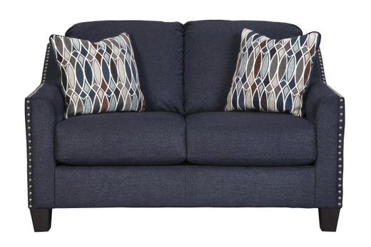 Zelda Fabric Loveseat Blue