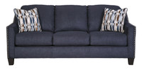 Zelda Fabric Queen Sofa Bed Blue