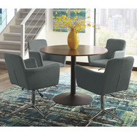 Marney 5 Piece Dining Set Blue