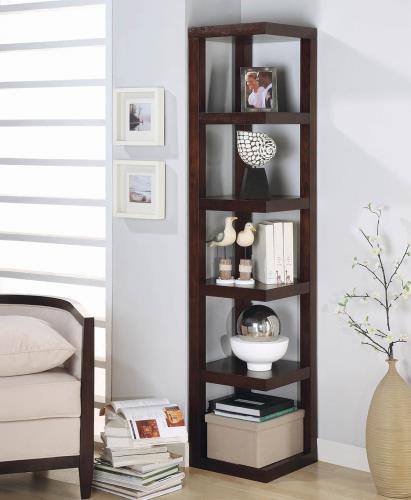 Toby Corner Bookshelf Cappuccino