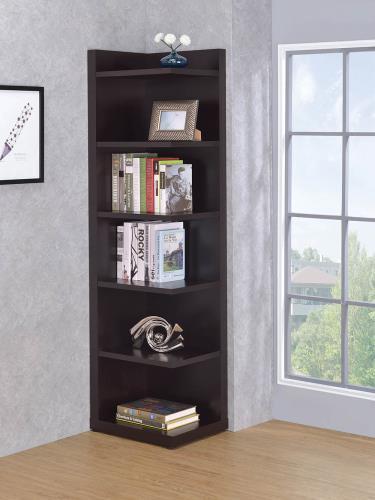 Ray Corner Bookshelf Cappuccino