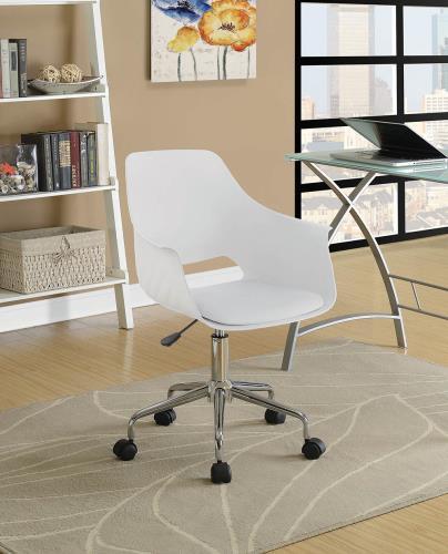 Kaylie Swivel Office Chair White
