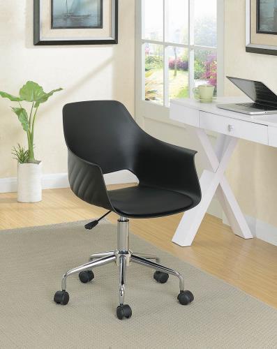 Kaylie Swivel Office Chair Black