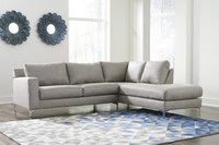 Elzie Right Hand Facing Sectional Grey