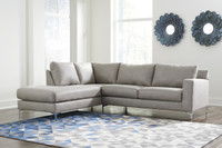 Elzie Left Hand Facing Sectional Grey