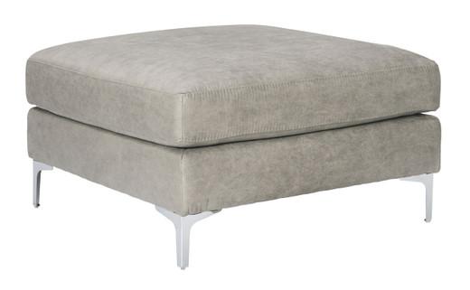 Elzie Oversized Ottoman Grey