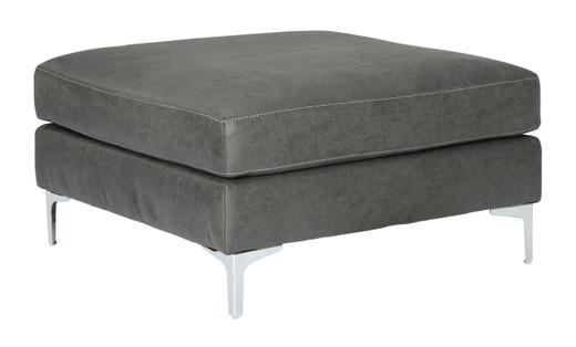 Elzie Oversized Ottoman Dark Grey
