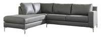 Elzie Left Hand Facing Sectional Dark Grey
