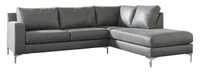 Elzie Right Hand Facing Sectional Dark Grey