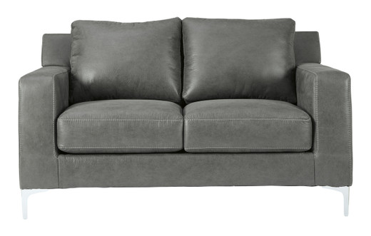 Elzie Loveseat Dark Grey