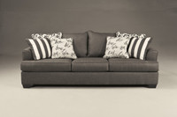 Devon Fabric Sofa Grey