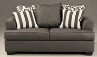 Devon Fabric Loveseat Grey