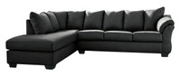 Madison Left Hand Facing Sectional Black