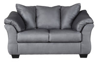 Madison Fabric Loveseat Steel