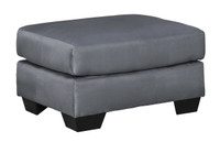 Madison Fabric Ottoman Steel