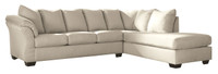 Madison Right Hand Facing Sectional Sofa Bed Stone