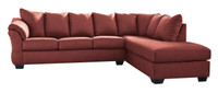 Madison Right Hand Facing Sectional Sofa Bed Red