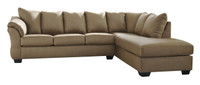 Madison Right Hand Facing Sectional Sofa Bed Mocha