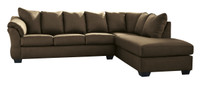 Madison Right Hand Facing Sectional Sofa Bed Cafe