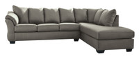 Madison Right Hand Facing Sectional Sofa Bed Grey