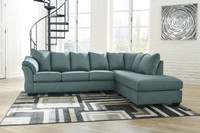 Madison Right Hand Facing Sectional Sofa Bed Sky
