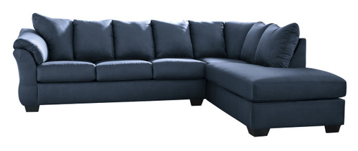 Madison Right Hand Facing Sectional Sofa Bed Blue