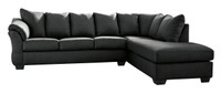 Madison Right Hand Facing Sectional Sofa Bed Black