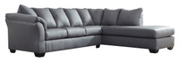 Madison Right Hand Facing Sectional Sofa Bed Steel