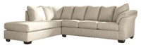 Madison Left Hand Facing Sectional Sofa Bed Stone
