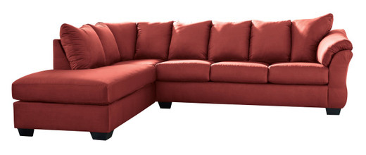 Madison Left Hand Facing Sectional Sofa Bed Red